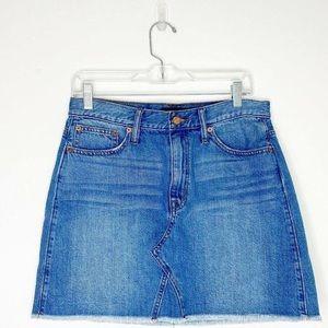 JCrew Frayed Denim Skirt H6146